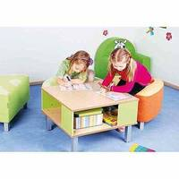 Premium Preschool Table With Shelf W65xL65xH40cm