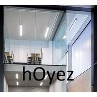 hOyez H7T Partitioning - Frameless Glass Partitions Without Any Intermediary Posts Between Panels. Spread Daylight &Preserve Acoustics With H7T Partitioning.