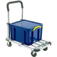Black and Grey Folding Extendable Platform Trolley 317221 110kg