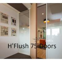 hOyez H'Flush 75 Doors - Designed To Be Exclusively Integrated With H7 &H7T Partitioning. Doors Supplied In Wood &Aluminium.