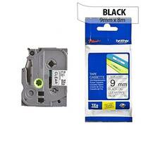 Brother TZ121 P-touch TZ Tape 9mmx8m Black on Clear