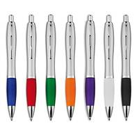 Riosatin Pen with Soft Grip Black Ink - Available in Various Colours - Customise with your brand, logo or promo text