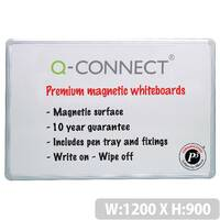Magnetic Premium Dry Wipe Board 1200x900mm Q-Connect