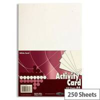Premier A4 160g White Activity Card Pack of 250