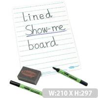 Show-Me Supertough A4 Lined Whiteboard Sets 35 Pack