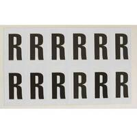 Adhesive Label Bin Sticker Letter R HxW 56x21mm Black Text On White