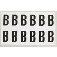 Adhesive Label Bin Sticker Letter B HxW 90x38mm Black Text On White
