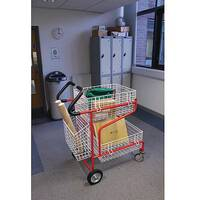 Mailroom Trolley With Comfort Grip Handles