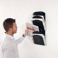 Wall Mounted Steel Newspaper Holder